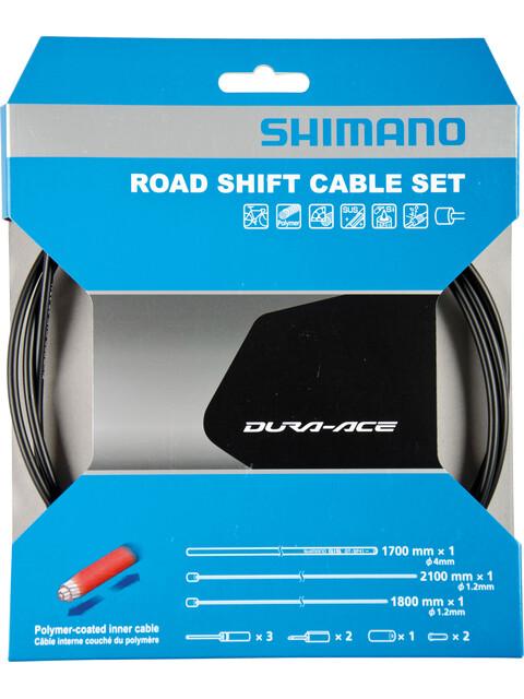 Shimano Road Schaltzug-Set polymerbeschichtet schwarz